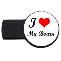 I Love My Beagle USB Flash Drive Round (4 GB) by vipstores