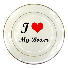 I Love My Beagle Porcelain Plate by premium