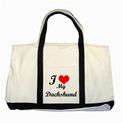 I Love My Beagle Two Tone Tote Bag by premium