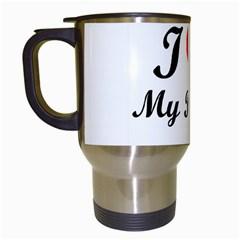 I Love My Beagle Travel Mug (white)