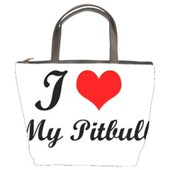 I Love My Beagle Bucket Bag by premium