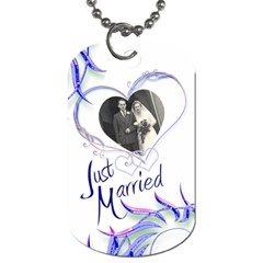 Just Married Double Sided Dog Tag By Catvinnat   Dog Tag (two Sides)   Xt9sjumqpms7   Www Artscow Com Front