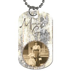 Mommy s Girl Mothers Day Double Sided Dog Tag By Catvinnat   Dog Tag (two Sides)   K22y7a24ok6i   Www Artscow Com Front