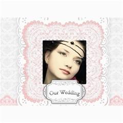 Our Wedding By Joely   5  X 7  Photo Cards   30okko6v8qav   Www Artscow Com 7 x5 Photo Card - 3