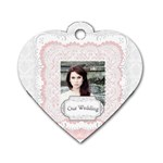 our wedding - Dog Tag Heart (One Side)