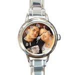 ate ni and jenald - Round Italian Charm Watch
