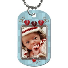 Baby Love 2 Sided Dog Tag By Lil    Dog Tag (two Sides)   D4w470bfix4i   Www Artscow Com Front