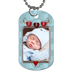 Baby Love 2 Sided Dog Tag By Lil    Dog Tag (two Sides)   D4w470bfix4i   Www Artscow Com Back