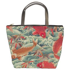 Koi Red Bucket Bag By Bags n Brellas   Bucket Bag   My5rad307ys9   Www Artscow Com Front