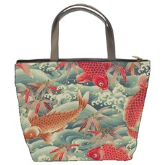 Koi Red Bucket Bag By Bags n Brellas   Bucket Bag   My5rad307ys9   Www Artscow Com Back
