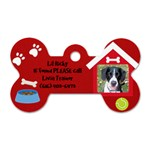 Rickys Dog Tag - Dog Tag Bone (Two Sides)