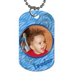 My Baby Boy Dog Tag 2s By Daniela   Dog Tag (two Sides)   Vprwxgf403qk   Www Artscow Com Back