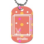 Hunny Bunny dog tag 2s - Dog Tag (Two Sides)