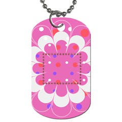 My Flower Dog Tag 2s By Daniela   Dog Tag (two Sides)   58v5qqglpqtn   Www Artscow Com Front
