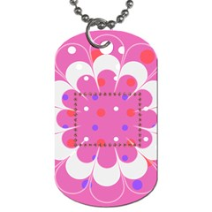 My Flower Dog Tag 2s By Daniela   Dog Tag (two Sides)   58v5qqglpqtn   Www Artscow Com Back