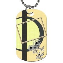 Sunflower Dog Tag 2s By Daniela   Dog Tag (two Sides)   Hzs38rif75ow   Www Artscow Com Back