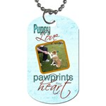 Puppy Love Pawprints in my Heart Double sided Dogtag - Dog Tag (Two Sides)