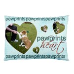 Pawprints in my Heart Doggy Pillow Case
