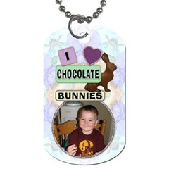 Chocolate Bunnies Easter 2 Sided Dog Tag By Lil    Dog Tag (two Sides)   Tuwvanb2mro8   Www Artscow Com Front