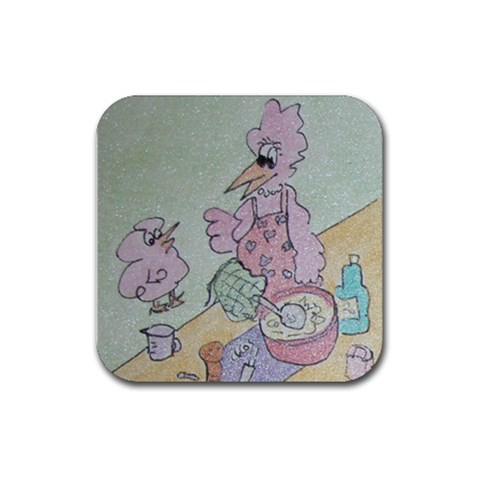 Coaster 2 By Trine   Rubber Coaster (square)   Zw604uqmh21o   Www Artscow Com Front