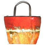 sunset bucket bag