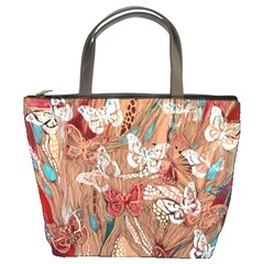 Butterfly Abstract Bucket Bag By Bags n Brellas   Bucket Bag   Sqlgaktlm4rs   Www Artscow Com Front