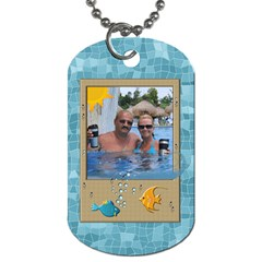Tropical Travel 2 Sided Dog Tag By Lil    Dog Tag (two Sides)   3xdyqotjirzb   Www Artscow Com Front
