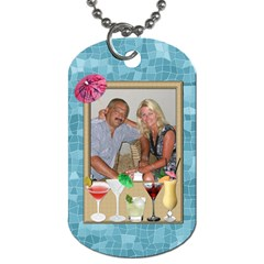 Tropical Travel 2 Sided Dog Tag By Lil    Dog Tag (two Sides)   3xdyqotjirzb   Www Artscow Com Back