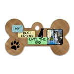 My Best Friend 2-Sided Dog Bone Tag - Dog Tag Bone (Two Sides)