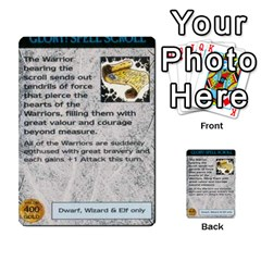 Warhammer Quest 1 By Kieren   Multi Purpose Cards (rectangle)   Zyzykjq2fc21   Www Artscow Com Front 51