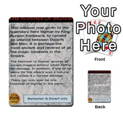 Warhammer Quest 1 By Kieren   Multi Purpose Cards (rectangle)   Zyzykjq2fc21   Www Artscow Com Front 18