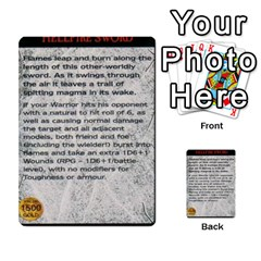Warhammer Quest 1 By Kieren   Multi Purpose Cards (rectangle)   Zyzykjq2fc21   Www Artscow Com Front 21