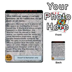 Warhammer Quest 1 By Kieren   Multi Purpose Cards (rectangle)   Zyzykjq2fc21   Www Artscow Com Front 23
