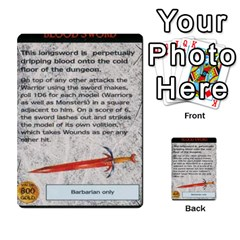 Warhammer Quest 1 By Kieren   Multi Purpose Cards (rectangle)   Zyzykjq2fc21   Www Artscow Com Front 27