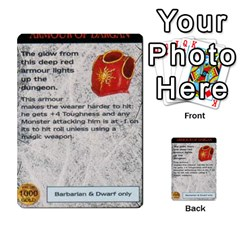 Warhammer Quest 1 By Kieren   Multi Purpose Cards (rectangle)   Zyzykjq2fc21   Www Artscow Com Front 29