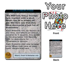 Warhammer Quest 1 By Kieren   Multi Purpose Cards (rectangle)   Zyzykjq2fc21   Www Artscow Com Front 50