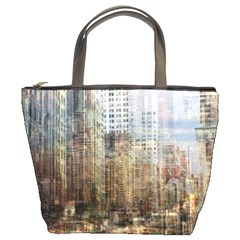Weathered Cityscape Bucket Bag By Bags n Brellas   Bucket Bag   7fbt4ggks3nz   Www Artscow Com Front