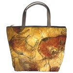 cave painting bucket bag