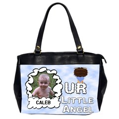 Our Little Angel Large Bag Double Sided By Chere s Creations   Oversize Office Handbag (2 Sides)   T8dygl2x5jhm   Www Artscow Com Front
