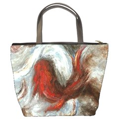 Koi Abstract2 Bucket Bag By Bags n Brellas   Bucket Bag   V5j93wnojhci   Www Artscow Com Back