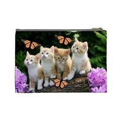Cats By Jesse Zweydoff   Cosmetic Bag (large)   Mvlvgf3q93o7   Www Artscow Com Back