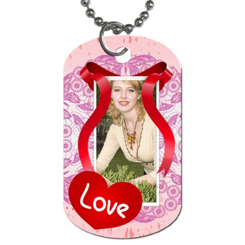Love By Joely   Dog Tag (one Side)   8jf2rd1z2zq6   Www Artscow Com Front