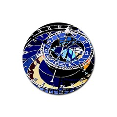 Clock Rubber Coaster (Round) by welcomeintotheworld