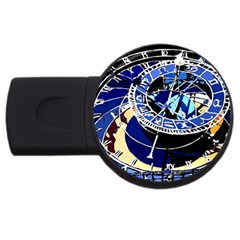 Clock USB Flash Drive Round (1 GB) by welcomeintotheworld