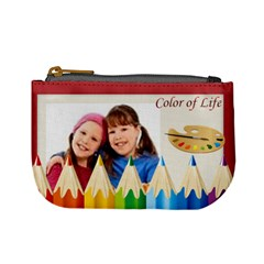 Color Of Life By Wood Johnson   Mini Coin Purse   Ospes0tgn1wu   Www Artscow Com Front