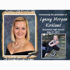 Lynsey s Grad Announcement/party By Echo Kirkland   5  X 7  Photo Cards   Mtwbfn84rmwl   Www Artscow Com 7 x5 Photo Card - 5