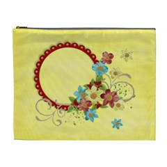 Flowers/crazy Love Xl Cosmetic Bag, Template By Mikki   Cosmetic Bag (xl)   K18bb6jegel0   Www Artscow Com Front