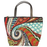 mosaic swirl bucket bag