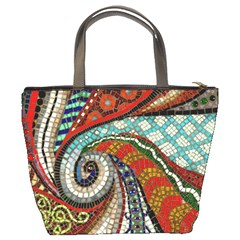 Mosaic Swirl Bucket Bag By Bags n Brellas   Bucket Bag   Iv9m0v37azpw   Www Artscow Com Back