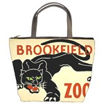 zoo poster bucket bag